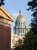 Gold covered dome of State Capitol Denver Royalty Free Stock Image