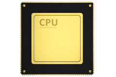 Gold cpu chip stock illustration