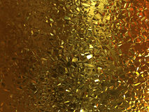 Gold crackle background Stock Photos
