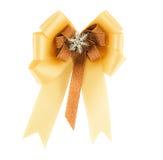 Gold & cream ribbon Stock Photos