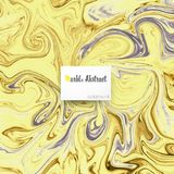 Gold creamy marble texture background. Vector illustration Stock Images