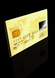 Gold credit card Stock Photos
