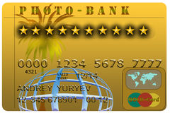 Gold credit card Royalty Free Stock Images