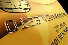 Gold Credit Card Royalty Free Stock Image