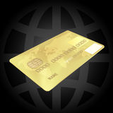 Gold Credit Card Stock Image