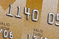 Gold credit card Stock Photos