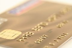 Gold credit card Stock Images