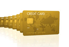 Gold credit cards Royalty Free Stock Image