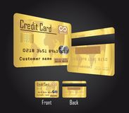 Gold credit cards Royalty Free Stock Photography