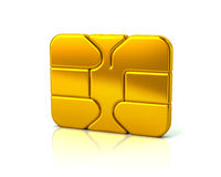 Gold credit debit card chip Stock Photography