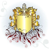 Gold crest element. Vector crest element with raster Royalty Free Stock Photos