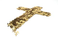 Gold Cross Royalty Free Stock Photography