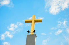 Gold cross Stock Photo