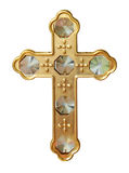 Gold Cross with Crystals Stock Photos