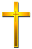 Gold cross Stock Image