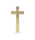 Gold cross symbol Royalty Free Stock Photos