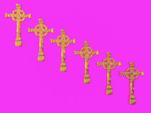 Gold Crosses Royalty Free Stock Images