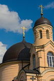 Gold crosses on the Orthodox Church Stock Image