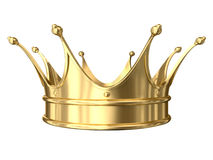 Gold crown. A computer generated image of a gold crown isolated over white Stock Photo