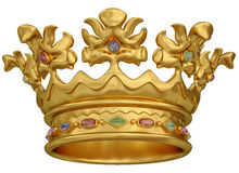 Gold crown vector illustration