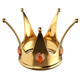 Gold Crown. Isolated on white background stock illustration