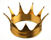 Gold Crown. Isolated on white background royalty free illustration
