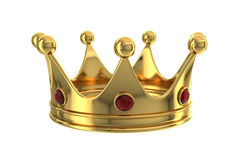 Gold crown royalty free illustration