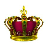 Gold Crown. Isolated on White vector illustration