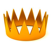 Gold crown, 3d. Golden king's crown, 3d image with shadow on white background Stock Image