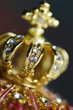 Gold crown. Close up view isolated Stock Image