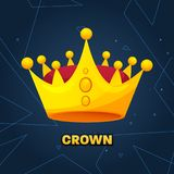 Gold crown. crown awards for winners, leadership. Royal king, queen. Luxury sign, icon of monarch or vintage coronet. Kinds of beautiful luxury. Vector Stock Photo