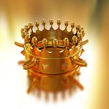 Gold crown. On gold background Royalty Free Stock Photo