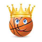 Gold crown on a basketball  Royalty Free Stock Photos