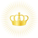Gold crown company logo. Illustration of a golden crown concept on white background. specially for company logo designs Stock Photography