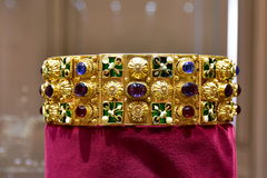 Gold crown. Copy of gold crown of Lombardie stock photography