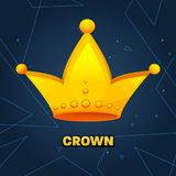 Gold crown. crown awards for winners, leadership. Royal king, queen. Luxury sign, icon of monarch or vintage coronet. Kinds of beautiful luxury. Vector Royalty Free Stock Photography