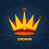 Gold crown. crown awards for winners, leadership. Royal king, queen. Luxury sign, icon of monarch or vintage coronet. Kinds of beautiful luxury. Vector Stock Image