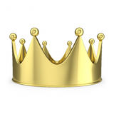 Gold crown with glow  on white background. 3d illustration Stock Images