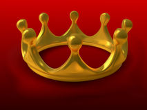 Gold crown - gradient mesh Stock Photo