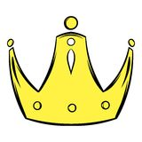 Gold crown icon cartoon Stock Images