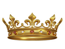 Gold crown with jewels royalty free illustration