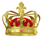 Gold crown with jewels Stock Images