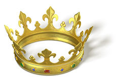 Gold crown with jewels Royalty Free Stock Photos