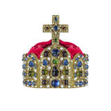 Gold crown with jewels. Stock Image