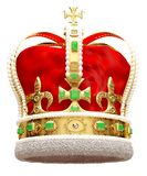 Gold crown. royalty free stock image