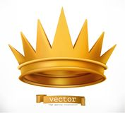 Gold crown. King. vector icon vector illustration