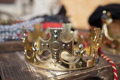 Gold crown Stock Images