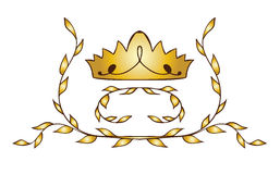 Gold crown with laurels Royalty Free Stock Images