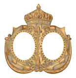 Gold Crown Picture Frame Royalty Free Stock Photography