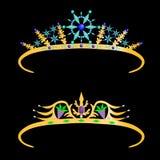 Gold crown with precious stones Stock Photos